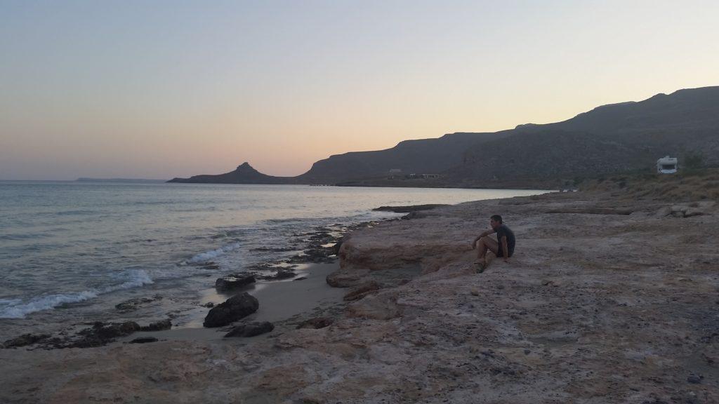 Strand von Xerokampos in der Abendsonne