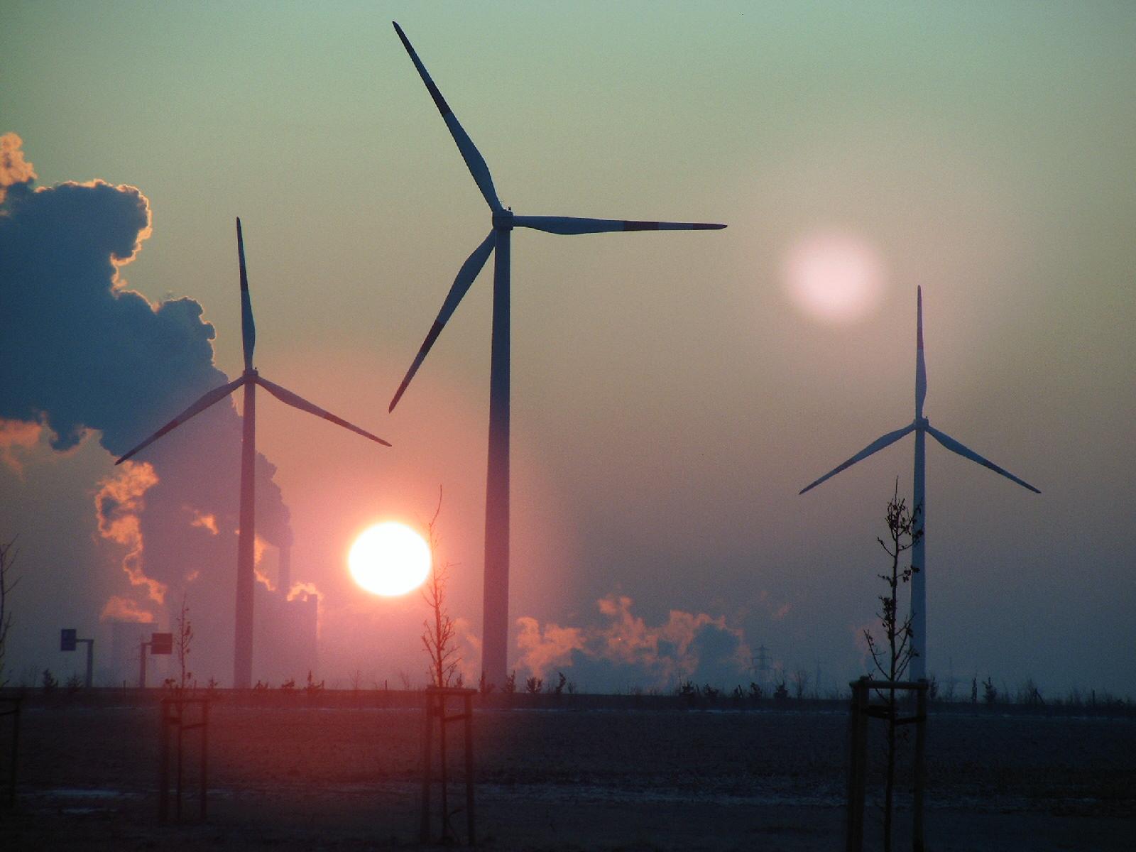 Kraftwerk-Windräder