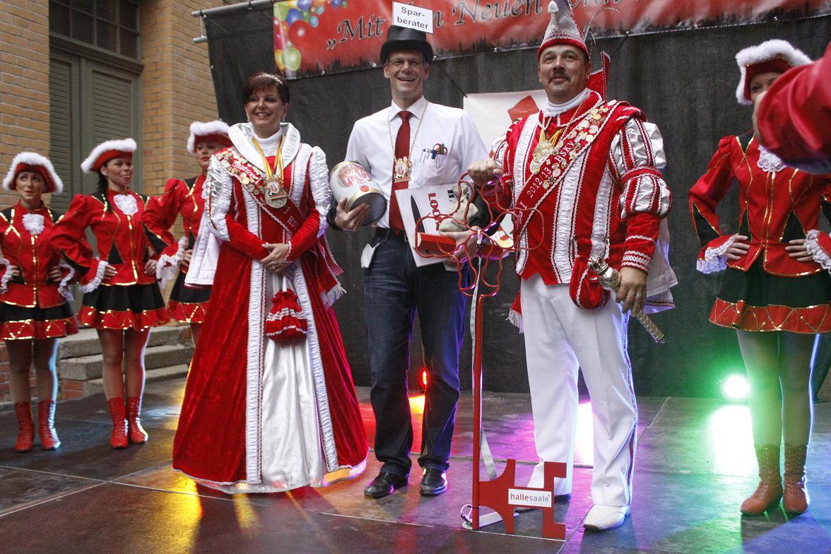 Prinzenpaar mit Bürgermeister Egbert Geier