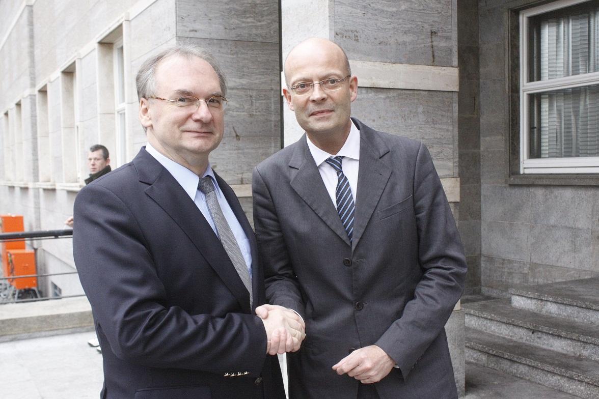 Ministerpräsident Haseloff, hier mit Halles OB Dr. Bernd Wiegand
