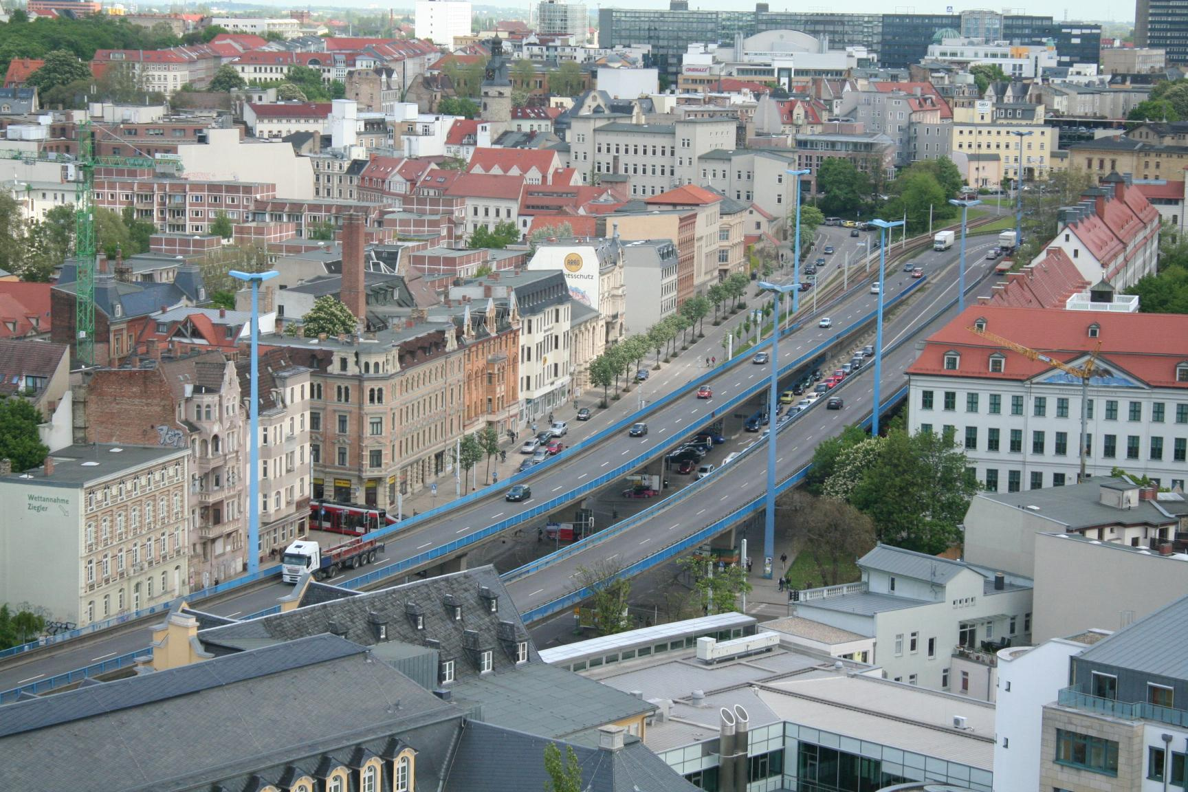 Blick auf den Franckeplatz
