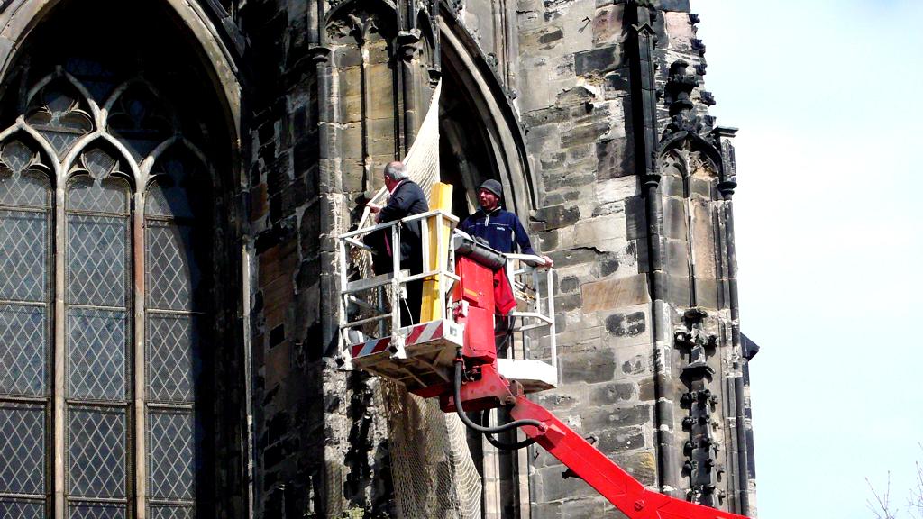 Sicherungsarbeiten an der Moritzkirche