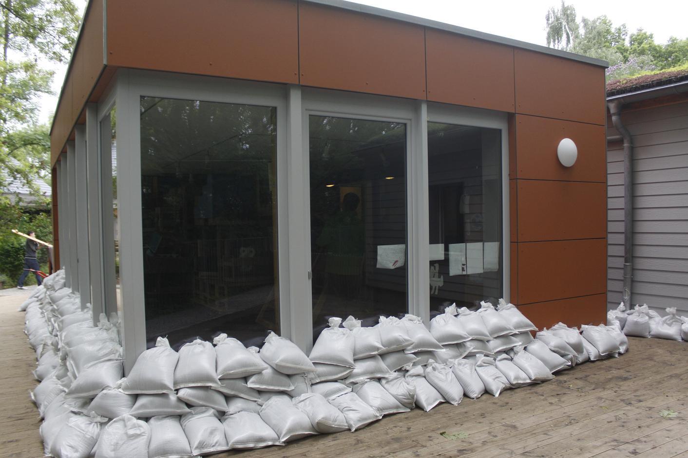 Ein letztesFoto vor der Überflutung von Montagnachmittag