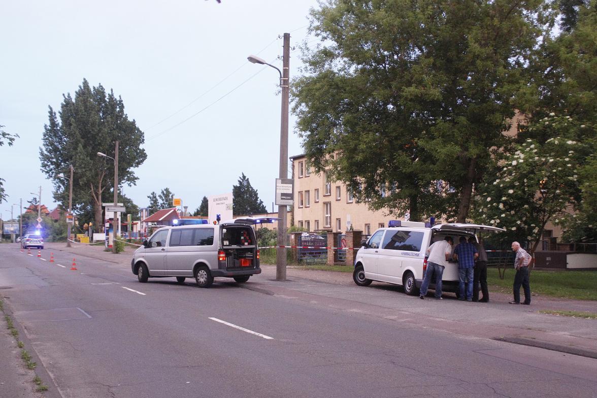 Bereits Mitte Juni kam die Polizei am Rockerclub in Trotha zum Einsatz