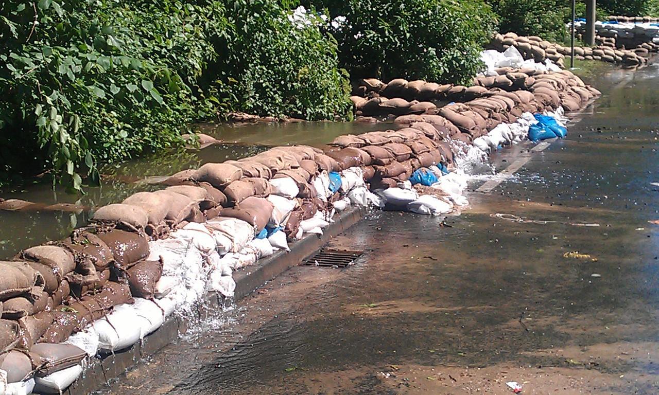 Gimritzer Damm zum Juni-Hochwasser