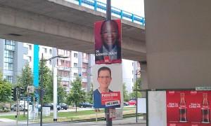 Wahlplakate an der Hochstraße