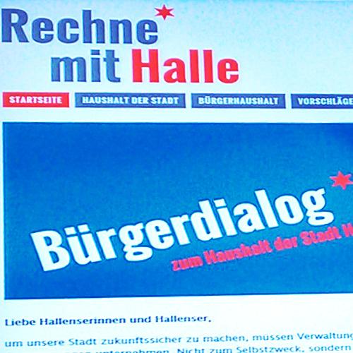 Bürgerhaushalt: Rechne mit Halle