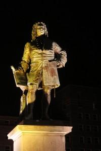 Zum Lichterfest wurde Händel mit Unterstützung von Sponsoren angestrahlt
