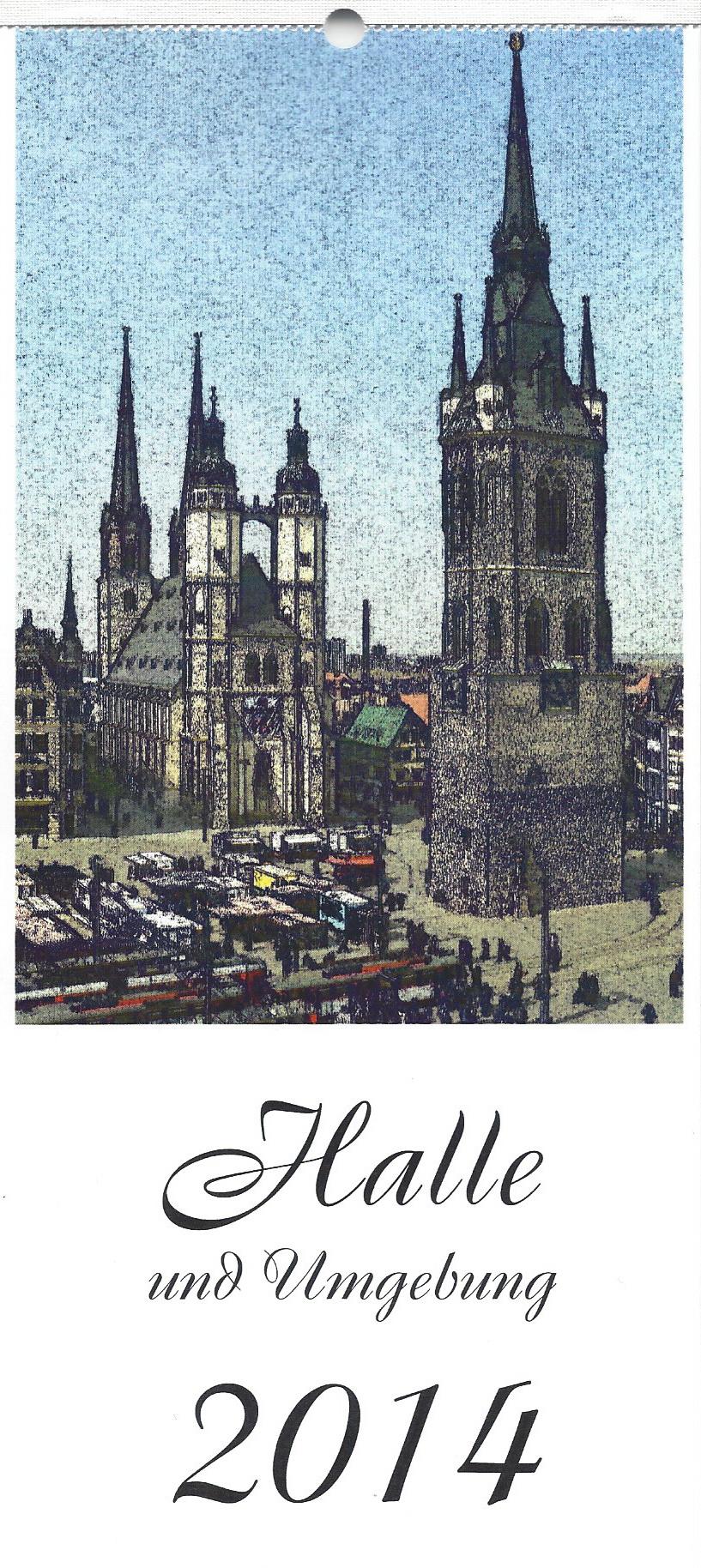 Postkartenkalender Halle 2014
