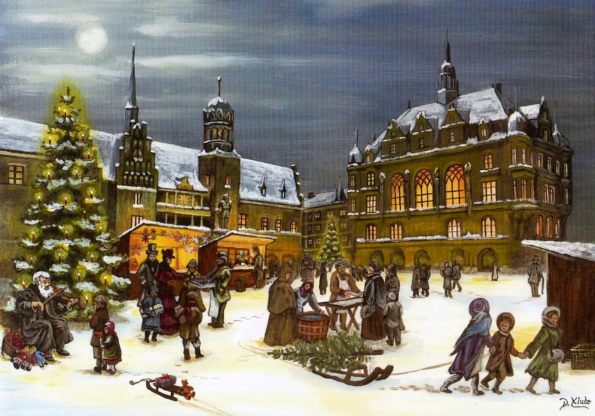 Alte Weihnachtskalender.Altes Rathaus Als Weihnachtskalender Hallespektrum De