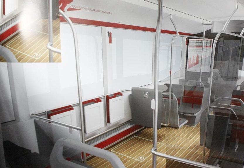Einer der Siegerentwürfe des Designpreises. So in etwa wird der neue Bus Innen aussehen
