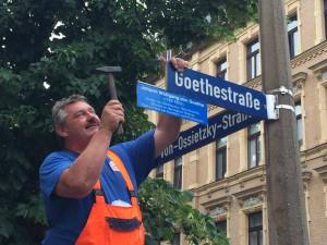 Goethestraße Schild