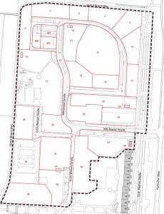Der Bereich innerhalb der gestrichelten Linie soll für das neue Trainingszentrum genutzt werden