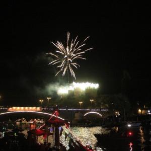 Laternenfest mit Feuerwerk