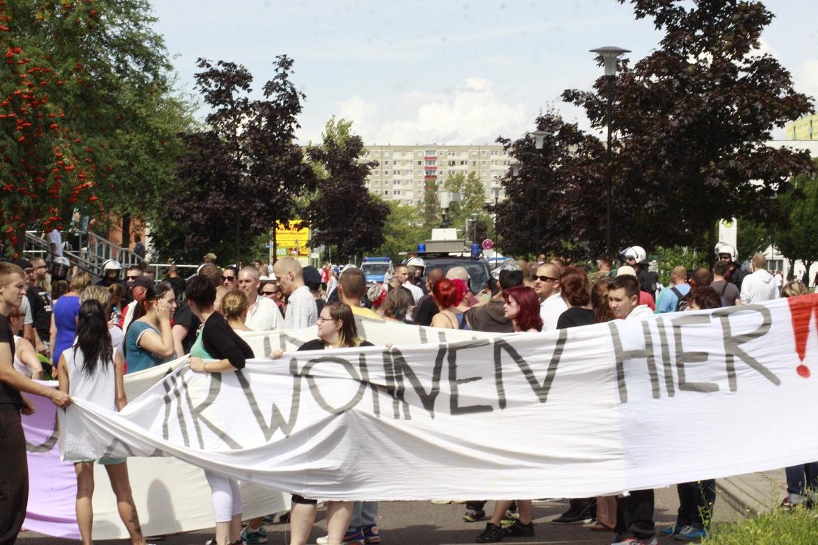 Demo gegen Roma auf der Silberhöhe