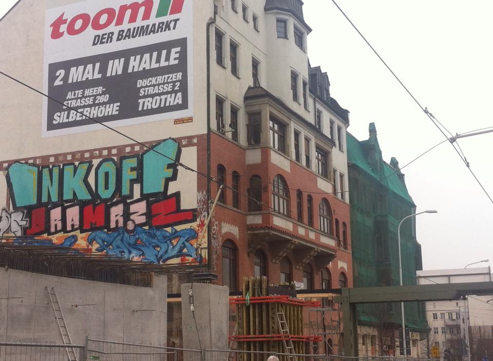 Oberleitung in der Delitzscher Straße abgerissen