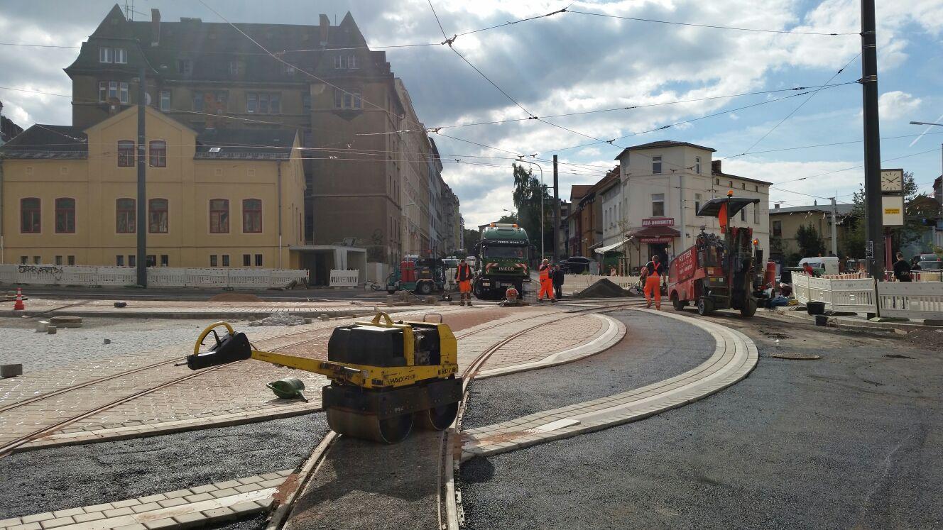 Aktueller Sachstand der Bauarbeiten am Rannischen Platz und ...