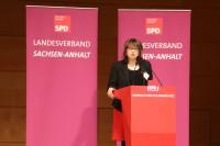Die stellvertretende Landesvorsitzende Dr. Katja Pähle.