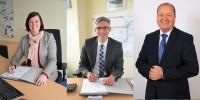 Carmen Maria Parrino, Stephan Schreier und Dirk Ballerstein bilden neue Geschäftsführung. Foto: Abellio Rail