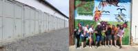 Vorher – Nachher: Die Garagentore des Landesverwaltungsamtes im Dienstgebäude Dessauer Straße 70 in Halle (Saale). Foto: Landesverwaltungsamt