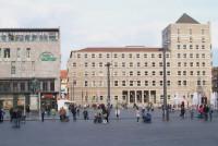 Markt-Ostseite (Rathausseite). Quelle: www.halles-altes-rathaus.de