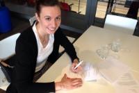 Mit Patricia Puskasova verpflichten die Hallenserinnen eine erfahrene Linkshänderin. Foto: SV UNION Halle-Neustadt