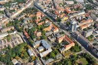 Luftbild des Campus der Medizinischen Fakultät in der Magdeburger Straße. Foto: Uni Halle