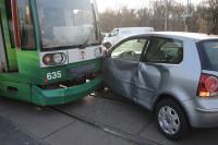Verkehrsunfall Böllberger Weg. Foto: Polizeirevier Halle (Saale)