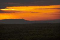 Blick vom Aussichtsturm auf dem Mittelberg in Richtung Kyffhäuser. Foto: miografico, Danny Pockrandt