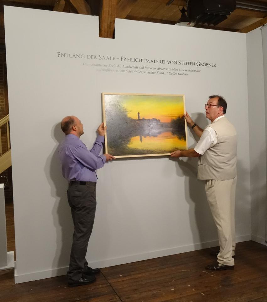 Stephan und Gröbner bei der feierlichen Ausstellungseröffnung