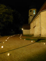 Eine Nacht der Lichter, hier Kirche in Beesen