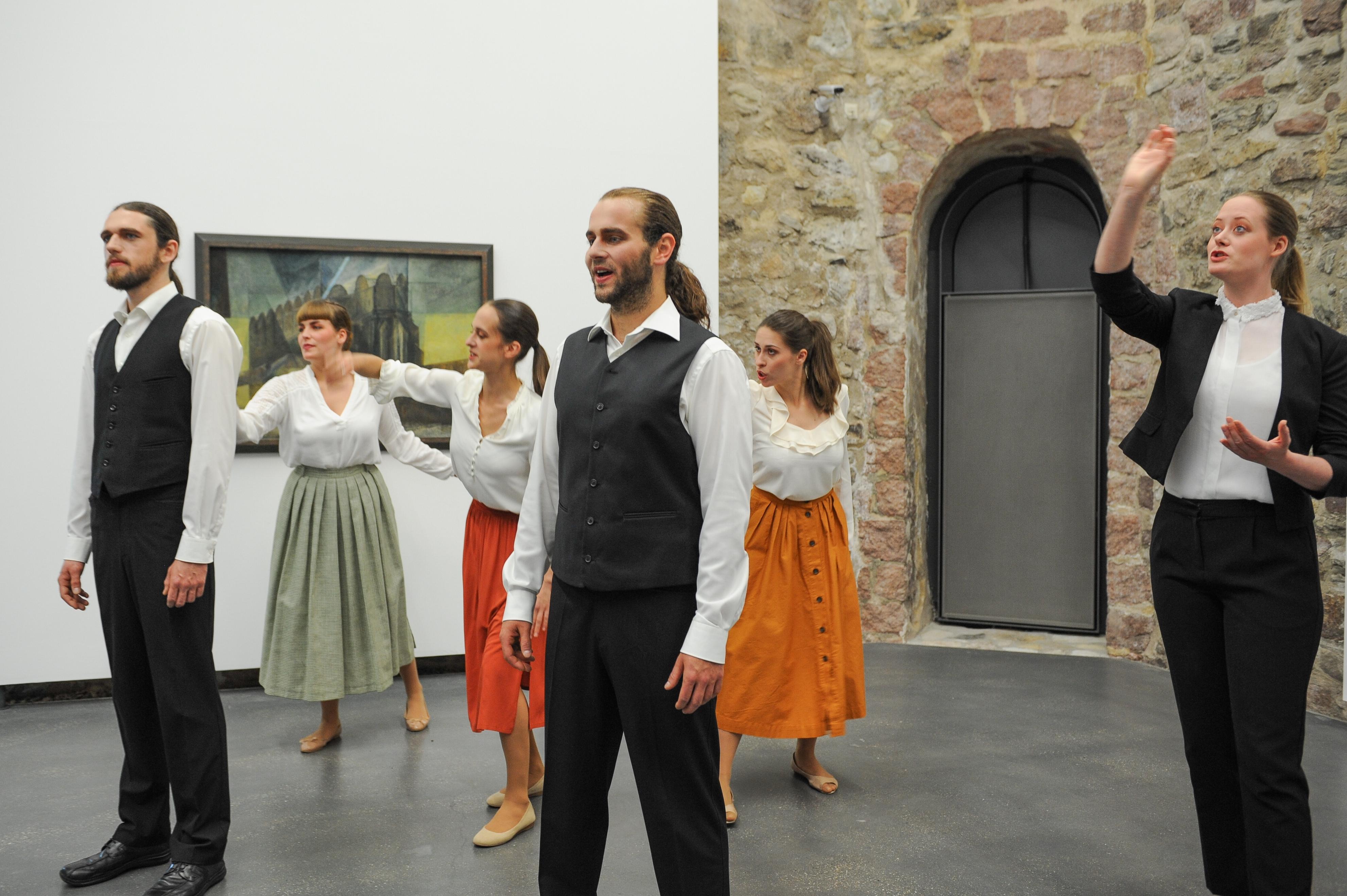 Premiere in der Moritzburg am 9. Juni 2016, Foto: Sprechbuehne