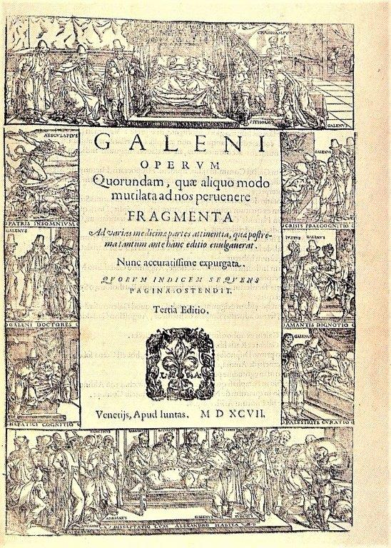 Schrift des römischen Arztes Galenos