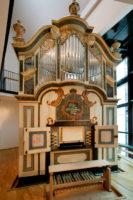Mauer-Orgel im Händel-Haus. Foto: Thomas Ziegler