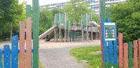 Leerer Spielplatz Drachennest in Halle Neustadt